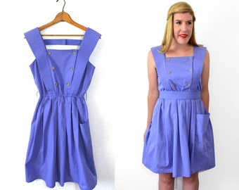 Periwinkle Purple Dress - Fit and Flare Dress - Womens Sailor Dress20 DOLLAR SUPER SALE!