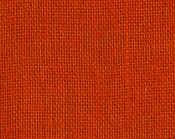 Orange Burlap Fabric By the Yard - 58 - 60 inches wide