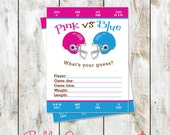 Whats your guess Gender Reveal Party Game - Scorecard Gender Reveal - Gender Reveal Football Party Game - Football Baby Shower