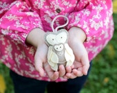 Mother and Baby Ornament. Felt Owl Ornament. New Mom Gift. Soft Plush Woodland Animal Handmade by Ordinary Mommy on Etsy