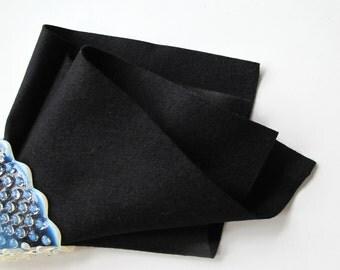 Black Felt, Pure Merino Wool, Certified Safe, Waldorf Handwork, Applique, Penny Rug, DIY Craft Supply, Nonwoven, Washable, Wollfilz