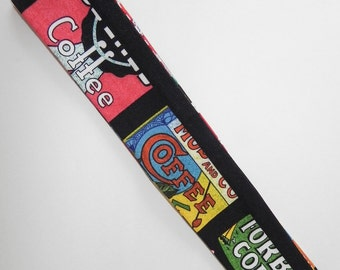 Coffee Label NECK COOLER Cool Tie with Black Background
