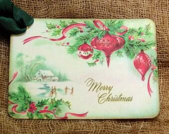 Merry Christmas Bulb Tags #481