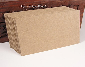 """Craft business Cards, Flat cards, Rectangle Cards, Wedding Place Cards, Thick Cards - 3.5"""" x 2"""" Available in sets 25 or 50"""