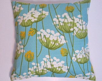 Set of Two -  HGTV Fabric Pillow Covers, Turquoise Home Decor,Turquoise Pillow Covers, Floral Cushion Covers, Spring Decor - 18 x 18