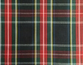 60 Inch Wide Black Stewart Tartan Plaid Fabric Upholstery Home Decorating Crafts BY THE YARD