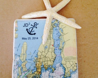 Wedding Map Coasters