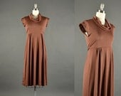 1970s Dress / empire waist dress / 70s Dress