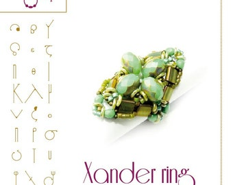 Beading bracelet tutorial / pattern Xander ring... PDF instruction for personal use only
