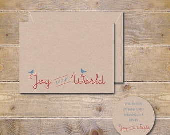 Christmas Cards . Holiday Cards . Cards Christmas . Recycled Christmas Cards . Recycled Holiday Cards - Joy to the World