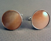 Mother of Pearl Cuff Links Silver-plated Men's Elegant Wedding Formal