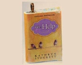 The Help - Mini-Book Pendant - Kathryn Stockett - The Help Book Pendant - The Help Jewelry - Book Jewelry - *Book Pendant* - Novel Jewelry