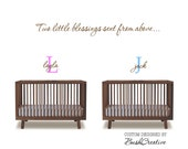 Twins wall decal Two little blessings sent from above 121