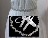 Woodland Wedding Sash, Crystal Bridal Sash, Floral Sash, Dress Jewelry, Rhinestone Sash, ROXANNA