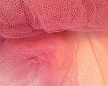 50s Vintage Crinoline Fabric 5 Yards Dusty Rose Pink  As Is