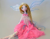 DELILAH,  On Sale, Japanese paper clay ball jointed fairy doll, handmade in the USA