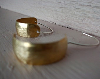 brass pirate earrings