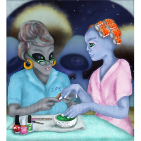 Betty's Galactic Hair and Nails Beauty Salon print