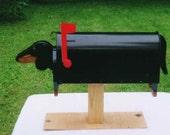 Handcrafted & handpainted Dachshund mailbox