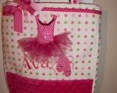 Custom Boutique Tutu Dance Ballet Tote Bag