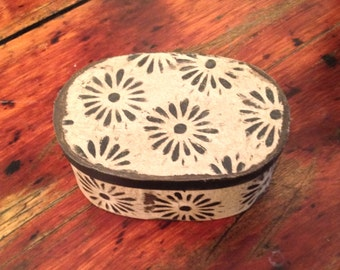 Paper Mache Vintage Wallpaper Box