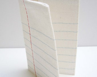 lined paper card holder