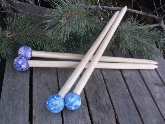 Big Knitting Needles Wood Size 50 1 inch or 25 by TheHickoryTree