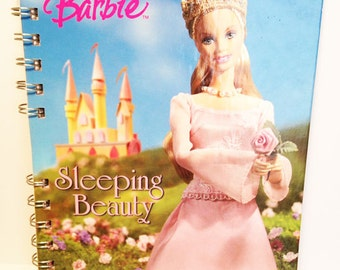 Barbie Sleeping Beauty Storybook Notebook - Upcycled - SALE!!