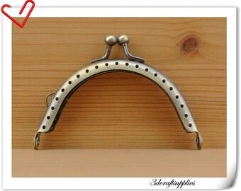 8cm anti bronze sewing metal purse frame A33