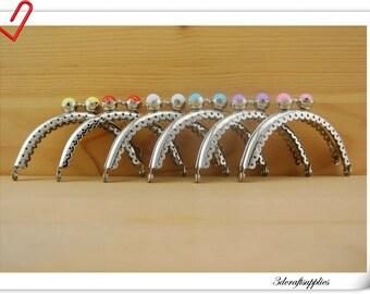Sew on purse frames handbag frames  6 color  8.5 cm x 4.5 cm ( 3 3/8 inch x 1.75  inch ) Nickel Z62