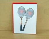 Tennis love-love card