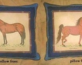 Final Markdown Sale...THOROUGHBRED/SADDLEBRED w/piping trim Horse Pillow...Price Greatly Reduced