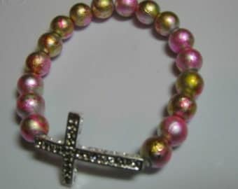 Basketball Wives Inspired  Glass Pearls Strech Bracelet BBW