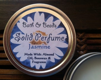 Jasmine Scented Solid Perfume All Natural Ingredients