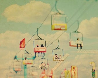 BUY 2 GET 1 FREE Carnival Photography, Carnival Ride, Dreamy, Pastels, Nursery Decor, Kids Room, Yellow Green, Clouds - The Clouds and Us