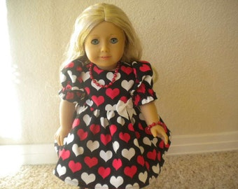 4 pc. Valentine Dress for American Girl Doll or Most 18 inch Dolls.