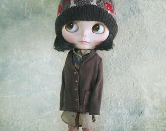 jiajiadoll- coffee casual coat fit momoko or misaki or blythe or unoa lights