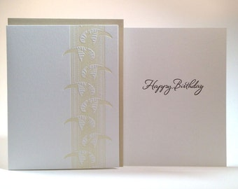 Happy Birthday-- letterpress card