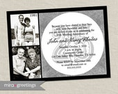 25th Anniversary Invitation - Silver Wedding Anniversary Party Invite (Printable Digital File)