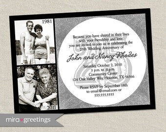 25th Anniversary Invitation - Printable Digital File