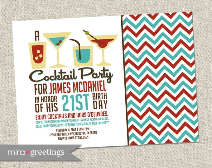 Cocktail Party Invitation - Printable Digital File