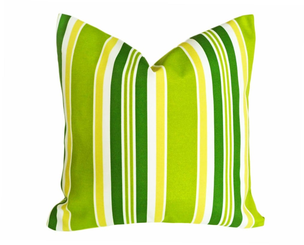 lime green patio pillow bright green patio cushions striped. Black Bedroom Furniture Sets. Home Design Ideas