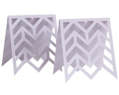Chevron Escort Cards - wedding, marriage, plum purple, lavender, lilac, herringbone table number, reception, zigzag seating chart, laser cut
