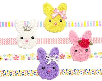 Bunny Headband, Design Your Bunny Headband for Girls, Bow, Tiara, Flower, Chevron, Glitter, Princess, Children Holiday Spring  Baby Toddlers