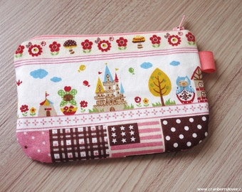 Matryoshka in the castle mini zippered pouch