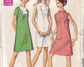1968 Simplicity 7676 Juniors' and Misses' Dress bust 36
