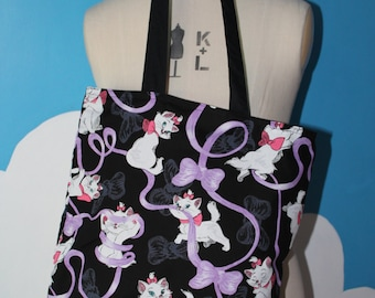 disney marie from aristocats tote bag