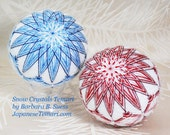 Temari pattern Snow Crystals Temari by Barbara B. Suess