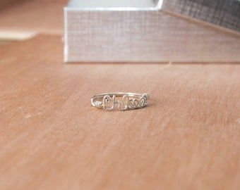 Personalized Silver Name Ring
