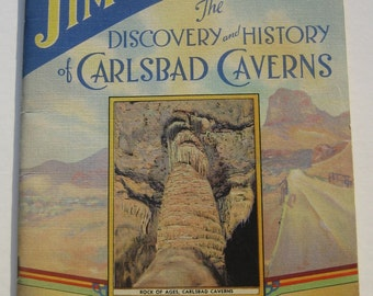 vintage Book Jim Whites Discovery History Carlsbad Caverns 1940 copyright collectible